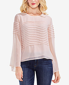 Vince Camuto Pleated Bell-Sleeve Blouse