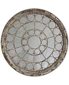 Round Framed Antique-Look Mirror