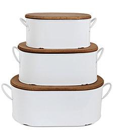 Decorative Metal Boxes, Set of 3
