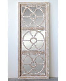 Rectangle Wood & Glass Wall Mirror