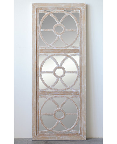 Rectangle Wood & Glass Wall Mirror