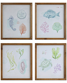 Sea Life Wall Décor, Set of 4