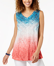 Style & Co Graphic Swing Tank Top, Created for Macy's