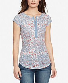 WILLIAM RAST Cotton Printed Hook-Closure Top