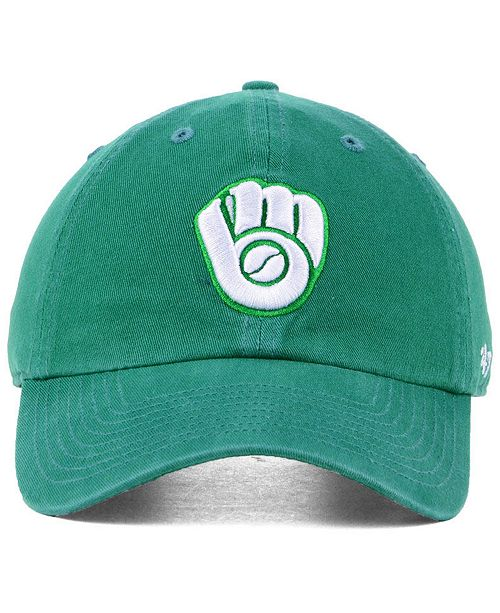 47 Brand Milwaukee Brewers Kelly White CLEAN UP Cap - Sports Fan Shop By  Lids - Men - Macy s 4029901ee625