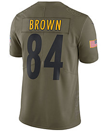 Nike Men's Antonio Brown Pittsburgh Steelers Salute To Service Jersey