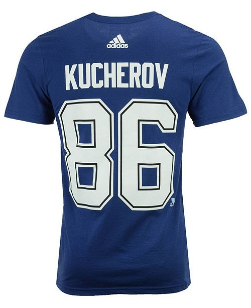 hot sale online e7001 d9e62 ... adidas Men s Nikita Kucherov Tampa Bay Lightning Silver Player T-Shirt  ...