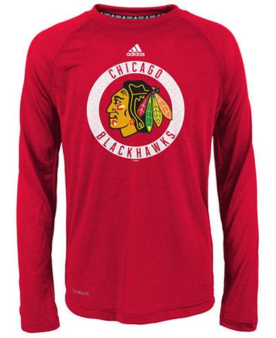 adidas Chicago Blackhawks Practice Graphic Long Sleeve T-Shirt, Big Boys (8-20)