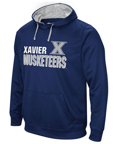 Colosseum Men's Xavier Musketeers Stack Performance Hoodie