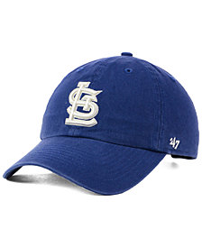 '47 Brand St. Louis Cardinals Timber Blue CLEAN UP Cap