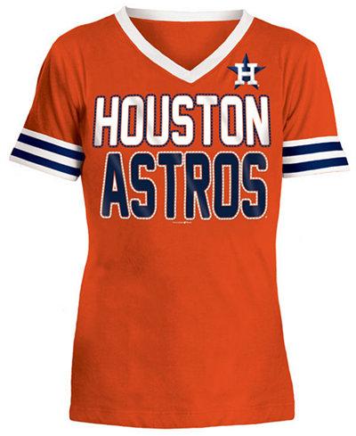 5th & Ocean Houston Astros Rhinestone T-Shirt, Girls (4-16)