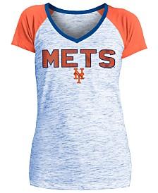 5th & Ocean Women's New York Mets Space Dye Stone T-Shirt