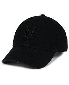 '47 Brand New York Mets Black on Black CLEAN UP Cap