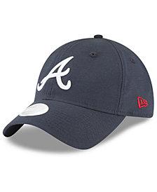 New Era Atlanta Braves Team Linen 9TWENTY Strapback Cap