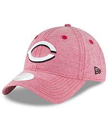 New Era Cincinnati Reds Team Linen 9TWENTY Strapback Cap