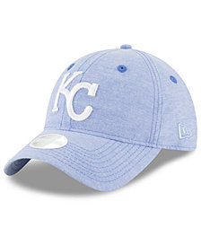 New Era Kansas City Royals Team Linen 9TWENTY Strapback Cap