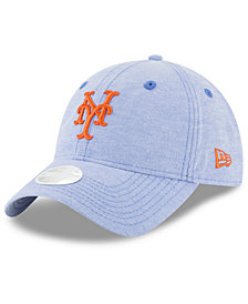 New Era New York Mets Team Linen 9TWENTY Strapback Cap