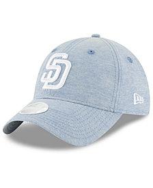 New Era San Diego Padres Team Linen 9TWENTY Strapback Cap