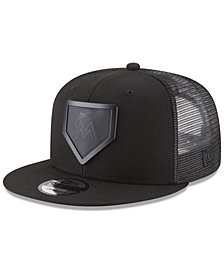 New Era Miami Marlins Leather Metal Plate 9FIFTY Cap