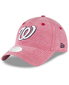 New Era Washington Nationals Team Linen 9TWENTY Strapback Cap