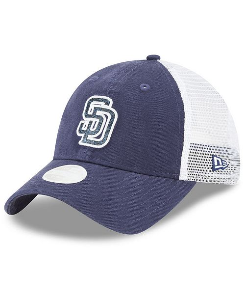 New Era San Diego Padres Trucker Shine 9TWENTY Cap - Sports Fan Shop ... 5b024865acb
