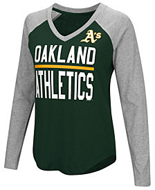 G-III Sports Women's Oakland Athletics Power Hitter Raglan T-Shirt