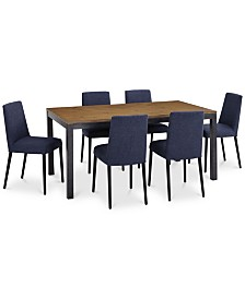 CLOSEOUT! Gatlin Dining Furniture, 7-Pc. Set (Dining Table & 6 Dining Chairs), Created for Macy's