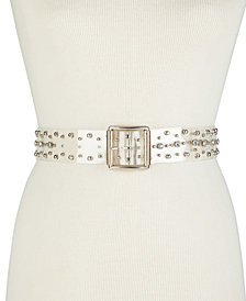 Steve Madden Clear Studded Belt