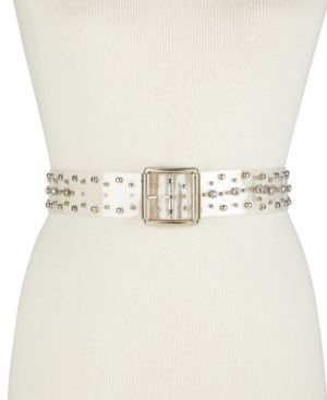 CLEAR STUDDED BELT