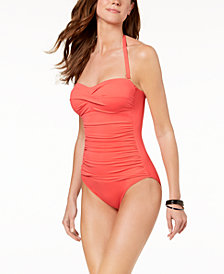 Lauren Ralph Lauren Underwire Twist Tummy-Control One-Piece Swimsuit