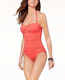 Lauren Ralph Lauren Underwire Twist Tummy-Control One-Piece Swimsuit
