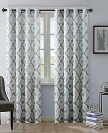 Ankara Cotton Ikat-Print Grommet Curtain Panels