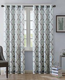 INK+IVY Ankara Cotton Ikat-Print Grommet Curtain Panels