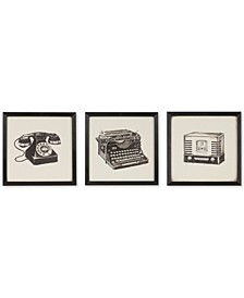 Intelligent Design Vintage Models 3-Pc. Gel-Coated Print Shadowbox Set
