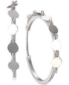 Unwritten Chain Hoop Earrings in Sterling Silver