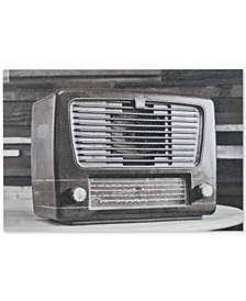 INK+IVY Vintage Radio Gel-Coated Canvas Print