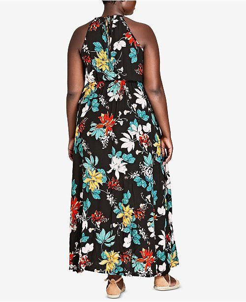 Trendy Plus Size Halter Maxi Dress
