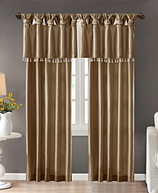 Emilia Lined Faux-Silk Twisted Tab Window Panel Collection