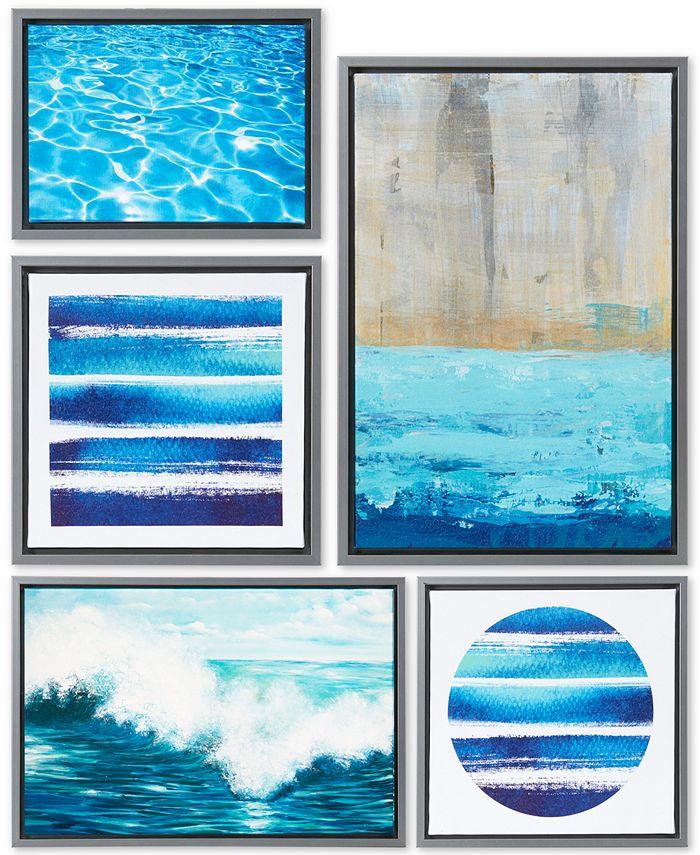 JLA Home - Water Tide 5-Pc. Gallery Wall Art Set