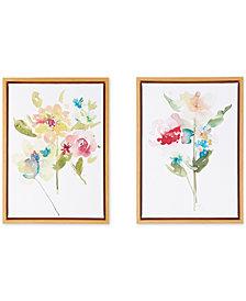 Madison Park Bloom Bouquet 2-Pc. Framed Gel-Coated Canvas Print Set
