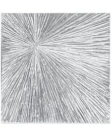 Madison Park Signature Sunburst Silver-Tone Resin Dimensional Box Wall Art
