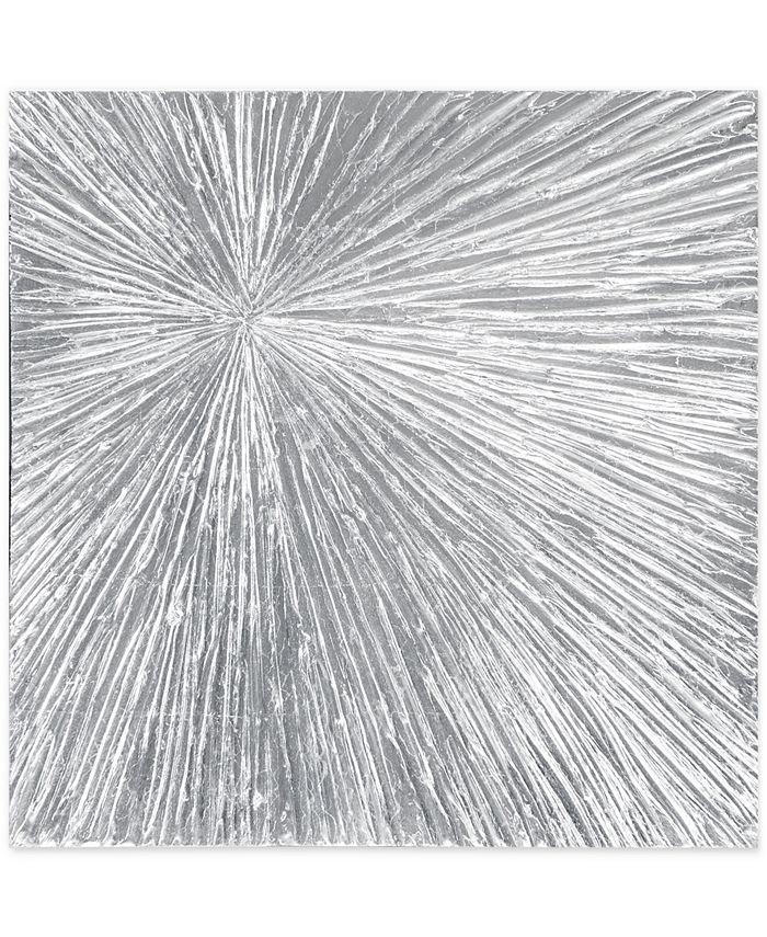 JLA Home - Madison Park Signature Sunburst Silver-Tone Resin Dimensional Box Wall Art