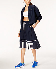 Nike Cropped Bomber Jacket & Mesh-Trimmed Skirt