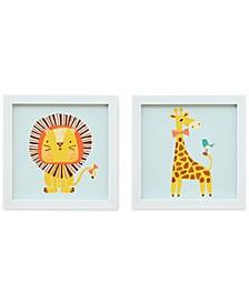 Safari Fun 2 Heart Strings 2-Pc. Wall Art Set