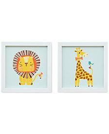 Mi Zone Kids Safari Fun 2 Heart Strings 2-Pc. Wall Art Set