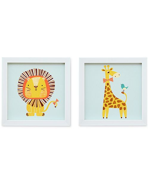 JLA Home Safari Fun 2 Heart Strings 2-Pc. Wall Art Set