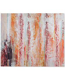 Urban Habitat Passion Coral Gel-Coated Canvas Print
