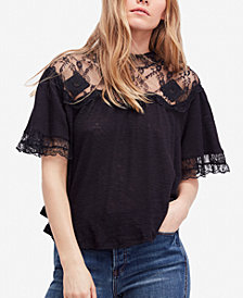 Free People Cape May Lace-Yoke Top