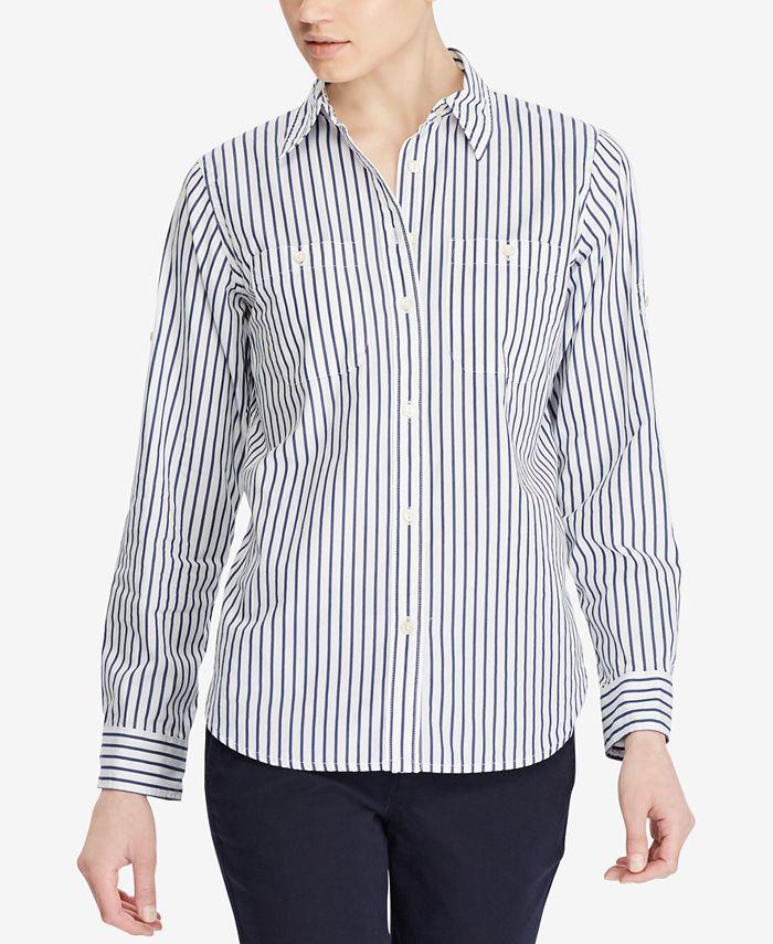 Lauren Ralph Lauren - Roll-Tab-Sleeve Striped Shirt