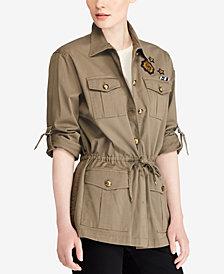 Lauren Ralph Lauren Patchwork Utility Jacket